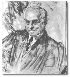 Sketch for portrait of Felix Frankfurter.