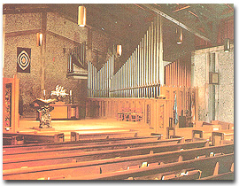 Interior of the First UU Church of Berkeley